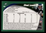 2002 Topps #290  Chad Lewis  Back Thumbnail