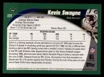 2002 Topps #223  Kevin Swayne  Back Thumbnail