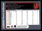 2003 Topps #198  Shawn Jefferson  Back Thumbnail