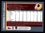2003 Topps #142  Rob Johnson  Back Thumbnail