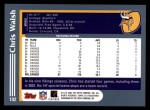 2003 Topps #192  Chris Walsh  Back Thumbnail