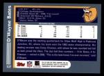 2003 Topps #137  D'Wayne Bates  Back Thumbnail