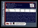 2003 Topps #105  Jeremy Shockey  Back Thumbnail