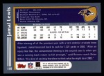 2003 Topps #199  Jamal Lewis  Back Thumbnail