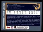 2003 Topps #72  Lamar Gordon  Back Thumbnail