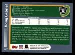 2003 Topps #337  Doug Gabriel  Back Thumbnail