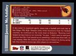 2003 Topps #221  Jason McAddley  Back Thumbnail