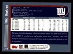 2003 Topps #273  Tiki Barber  Back Thumbnail