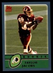 2003 Topps #340  Taylor Jacobs  Front Thumbnail