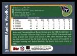 2003 Topps #366  Andre Woolfolk  Back Thumbnail