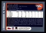 2003 Topps #242  Al Wilson  Back Thumbnail