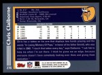 2003 Topps #276  Chris Claiborne  Back Thumbnail