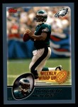 2003 Topps #301   -  Donovan McNabb Weekly Wrap-Up Front Thumbnail