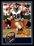 2003 Topps #297   -  Marshall Faulk Weekly Wrap-Up Front Thumbnail