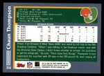 2003 Topps #356  Chaun Thompson  Back Thumbnail