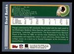 2003 Topps #317  Brad Banks  Back Thumbnail
