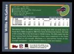 2003 Topps #360  Willis McGahee  Back Thumbnail