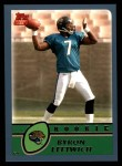 2003 Topps #350  Byron Leftwich  Front Thumbnail