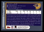 2003 Topps #279  Ed Reed  Back Thumbnail