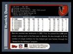 2003 Topps #244  Warrick Dunn  Back Thumbnail
