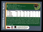 2003 Topps #315  Rashean Mathis  Back Thumbnail