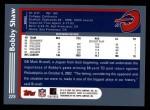 2003 Topps #229  Bobby Shaw  Back Thumbnail