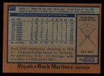 1978 Topps #571  Buck Martinez  Back Thumbnail