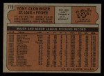 1972 Topps #779  Tony Cloninger  Back Thumbnail
