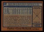 1978 Topps #292  Gene Richards  Back Thumbnail