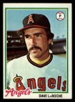 1978 Topps #454  Dave LaRoche  Front Thumbnail