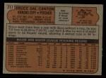 1972 Topps #717  Bruce Dal Canton  Back Thumbnail