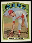 1972 Topps #719  Cesar Geronimo  Front Thumbnail