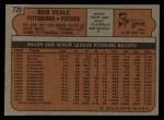 1972 Topps #729  Bob Veale  Back Thumbnail