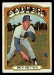 1972 Topps #530  Don Sutton  Front Thumbnail
