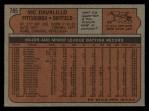1972 Topps #785  Vic Davalillo  Back Thumbnail