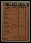 1972 Topps #224   -  Brooks Robinson / Mark Belanger 1971 World Series - Game #2 Back Thumbnail
