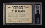 1961 Nu-Card Scoops #424   -   Lou Gehrig  Gehrig Consecutive Game Record Ends Back Thumbnail