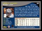 2001 Topps #185  James Stewart  Back Thumbnail