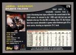 2001 Topps #178  Jamal Anderson  Back Thumbnail