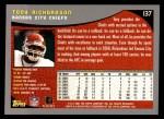 2001 Topps #137  Tony Richardson  Back Thumbnail