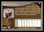 2001 Topps #51  Joe Johnson  Back Thumbnail