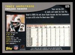 2001 Topps #125  Trace Armstrong  Back Thumbnail