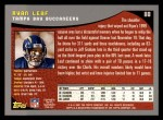 2001 Topps #118  Ryan Leaf  Back Thumbnail