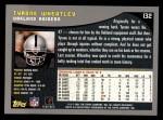 2001 Topps #132  Tyrone Wheatley  Back Thumbnail