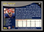 2001 Topps #85  Eric Moulds  Back Thumbnail
