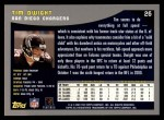 2001 Topps #26  Tim Dwight  Back Thumbnail