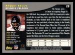 2001 Topps #28  Reggie Kelly  Back Thumbnail