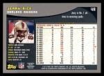 2001 Topps #48  Jerry Rice  Back Thumbnail
