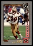 2001 Topps #48  Jerry Rice  Front Thumbnail