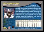 2001 Topps #169  Tim Biakabutuka  Back Thumbnail